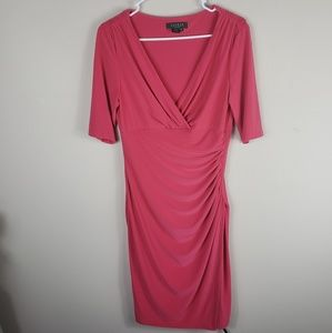 Ralph Lauren | Pink Knee Length Side Slit Dress